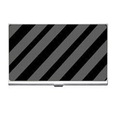 Black And Gray Lines Business Card Holders by Valentinaart