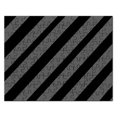 Black And Gray Lines Rectangular Jigsaw Puzzl by Valentinaart