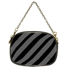 Black And Gray Lines Chain Purses (one Side)  by Valentinaart
