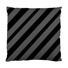 Black And Gray Lines Standard Cushion Case (one Side) by Valentinaart