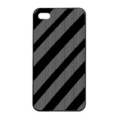 Black And Gray Lines Apple Iphone 4/4s Seamless Case (black)