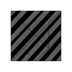 Black And Gray Lines Acrylic Tangram Puzzle (4  X 4 ) by Valentinaart