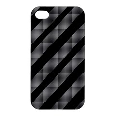 Black And Gray Lines Apple Iphone 4/4s Premium Hardshell Case