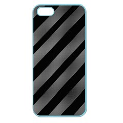 Black And Gray Lines Apple Seamless Iphone 5 Case (color) by Valentinaart