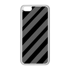 Black And Gray Lines Apple Iphone 5c Seamless Case (white) by Valentinaart