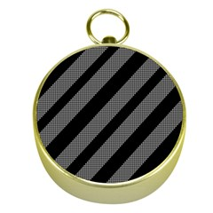 Black And Gray Lines Gold Compasses
