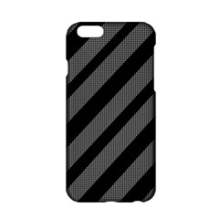 Black And Gray Lines Apple Iphone 6/6s Hardshell Case by Valentinaart
