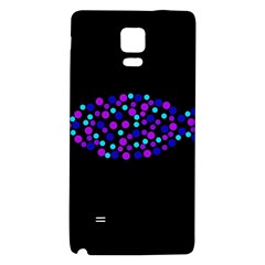 Purple Fish Galaxy Note 4 Back Case by Valentinaart