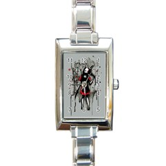 Come Play With Me   Rectangle Italian Charm Watch by lvbart