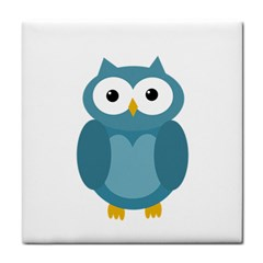 Cute Blue Owl Face Towel by Valentinaart