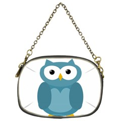 Cute Blue Owl Chain Purses (two Sides)  by Valentinaart
