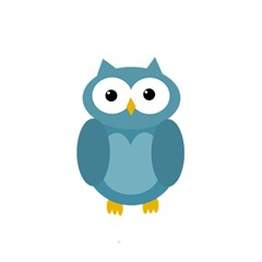 Cute Blue Owl Shower Curtain 48  X 72  (small)  by Valentinaart