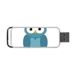 Cute Blue Owl Portable Usb Flash (one Side) by Valentinaart