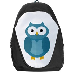 Cute Blue Owl Backpack Bag by Valentinaart