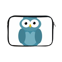 Cute Blue Owl Apple Ipad Mini Zipper Cases by Valentinaart