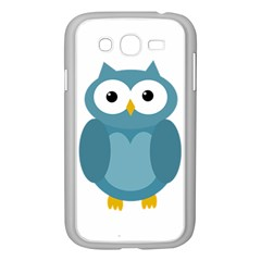 Cute Blue Owl Samsung Galaxy Grand Duos I9082 Case (white) by Valentinaart