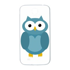Cute Blue Owl Samsung Galaxy S4 I9500/i9505  Hardshell Back Case by Valentinaart