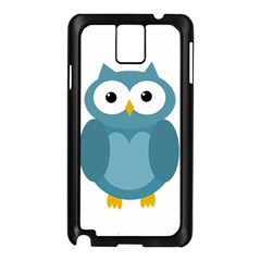 Cute Blue Owl Samsung Galaxy Note 3 N9005 Case (black) by Valentinaart