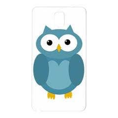 Cute Blue Owl Samsung Galaxy Note 3 N9005 Hardshell Back Case by Valentinaart