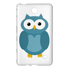 Cute Blue Owl Samsung Galaxy Tab 4 (7 ) Hardshell Case  by Valentinaart