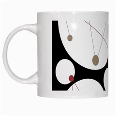 Decorative Circles White Mugs by Valentinaart
