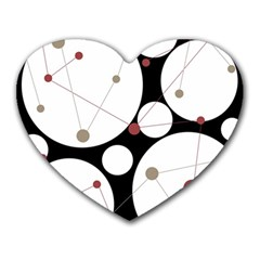 Decorative Circles Heart Mousepads by Valentinaart