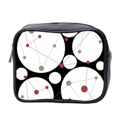 Decorative Circles Mini Toiletries Bag 2 Side by Valentinaart