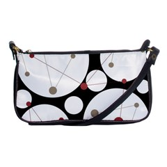 Decorative Circles Shoulder Clutch Bags by Valentinaart