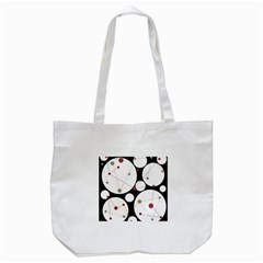 Decorative Circles Tote Bag (white) by Valentinaart