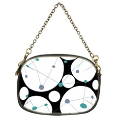 Decorative Circles   Blue Chain Purses (two Sides)  by Valentinaart