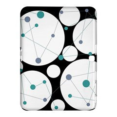 Decorative Circles   Blue Samsung Galaxy Tab 4 (10 1 ) Hardshell Case  by Valentinaart