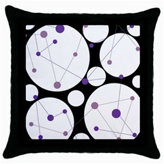 Decorative Circles   Purple Throw Pillow Case (black) by Valentinaart