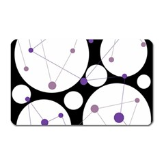 Decorative Circles   Purple Magnet (rectangular) by Valentinaart