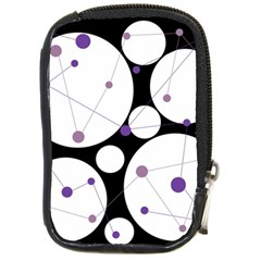 Decorative Circles   Purple Compact Camera Cases