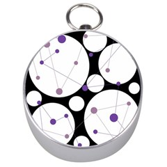 Decorative Circles   Purple Silver Compasses by Valentinaart