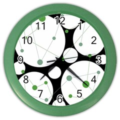 Decorative Circles   Green Color Wall Clocks by Valentinaart