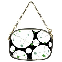 Decorative Circles   Green Chain Purses (one Side)  by Valentinaart