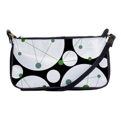 Decorative Circles   Green Shoulder Clutch Bags by Valentinaart