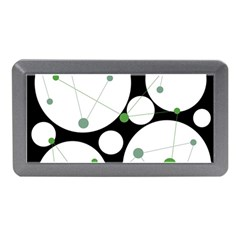 Decorative Circles   Green Memory Card Reader (mini) by Valentinaart