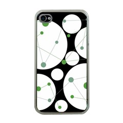 Decorative Circles   Green Apple Iphone 4 Case (clear) by Valentinaart