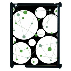 Decorative Circles   Green Apple Ipad 2 Case (black)