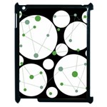 Decorative circles - green Apple iPad 2 Case (Black) Front