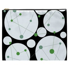 Decorative Circles   Green Cosmetic Bag (xxxl)  by Valentinaart
