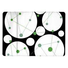 Decorative Circles   Green Samsung Galaxy Tab 10 1  P7500 Flip Case by Valentinaart