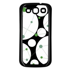 Decorative Circles   Green Samsung Galaxy S3 Back Case (black) by Valentinaart