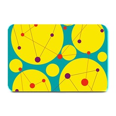 Yellow And Green Decorative Circles Plate Mats by Valentinaart