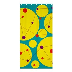 Yellow And Green Decorative Circles Shower Curtain 36  X 72  (stall)  by Valentinaart