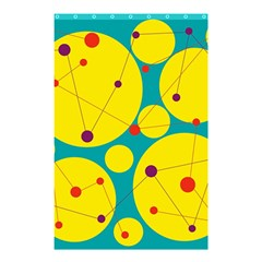 Yellow And Green Decorative Circles Shower Curtain 48  X 72  (small)  by Valentinaart