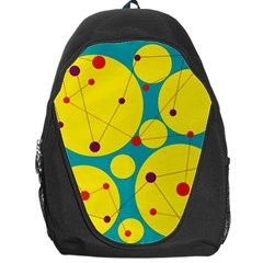 Yellow And Green Decorative Circles Backpack Bag by Valentinaart