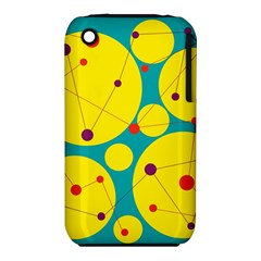 Yellow And Green Decorative Circles Apple Iphone 3g/3gs Hardshell Case (pc+silicone) by Valentinaart